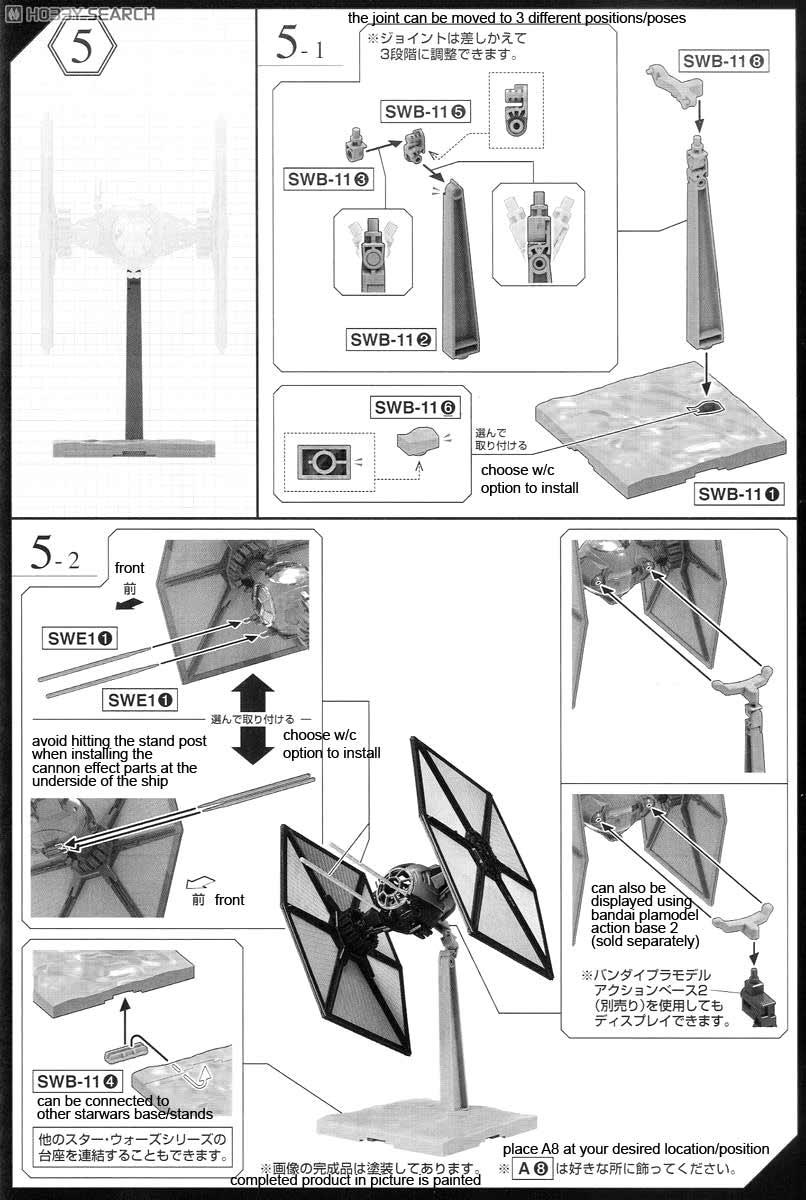 Star First Wars Order Tie Paint Fighter