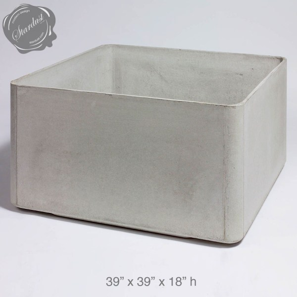 Mid Century Modern Pots and Planters  Square Low Planter 18  h     Mid Century Modern Pots and Planters