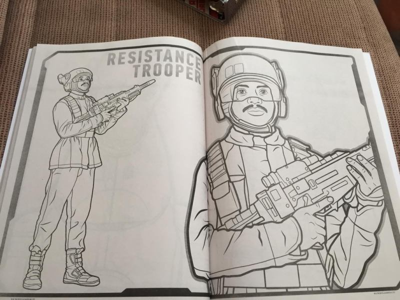 Star Wars  The Force Awakens Coloring Book Reveals Two New     star wars the force awakens coloring book 1