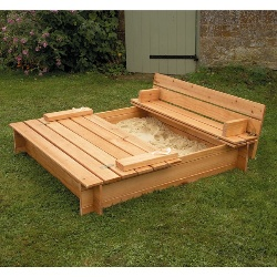 Diy Sandbox With Lid Amp Benches Stately Kitsch