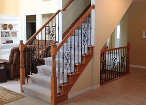 Stair Parts Wood Balusters Newels Handrails Treads Risers   Hardwood Handrails For Stairs   Brown   Tree Shaped Stair   Balustrade   Indoor   Handrail