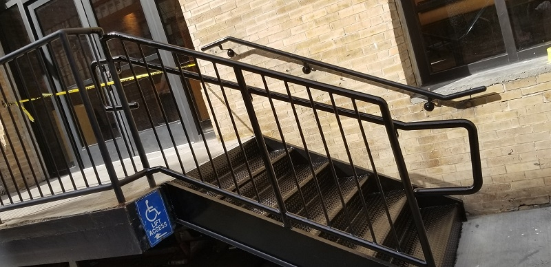 Fabricator Ny Pipe Tubular Steel Hand Railing Stair Railings   Black Iron Pipe Stair Railing   Staircase Railing   Industrial Style   Deck   Steel Pipe   Reclaimed Wood