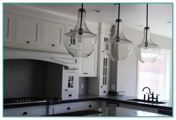 placement of pendant lights over kitchen island # 87