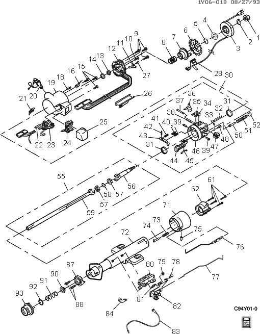 70 chevy truck steering column exploded view 65 Chevy Truck
