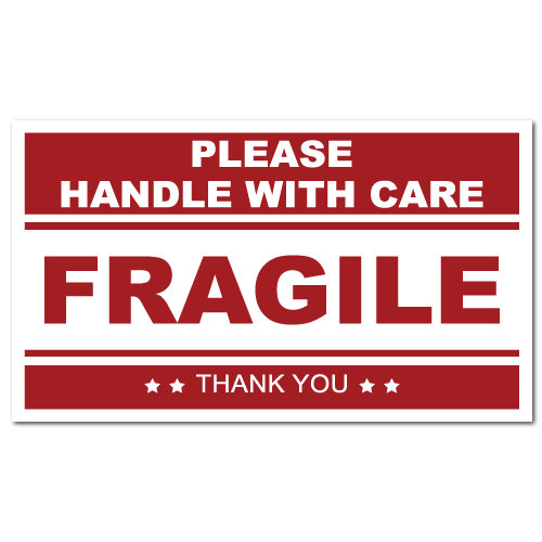 Fragile stickers, warning stickers, caution labels and more