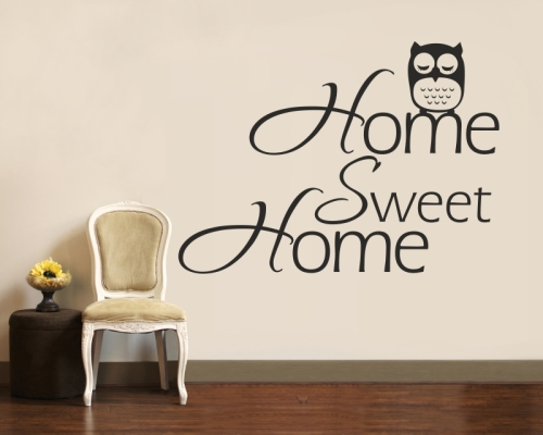 Wandtattoo Home Sweet Home Eule