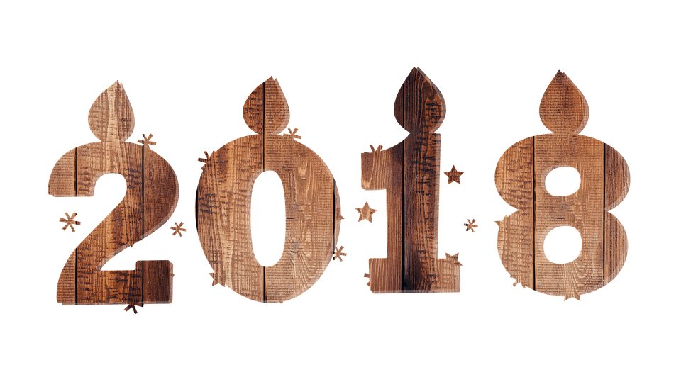 Happy New Year 2018 transparent PNG images   StickPNG 2018 Wood Happy New Year