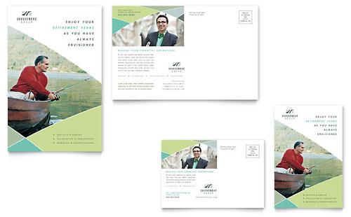 Financial Advisor Brochure Template Design