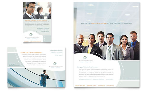 Business Consulting Flyer Amp Ad Template Design