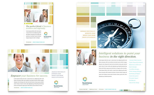 Business Solutions Consultant Flyer Amp Ad Template Design