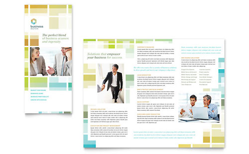 Business Solutions Consultant Newsletter Template Design