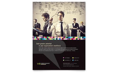 Human Resource Management Flyer Amp Ad Template Design