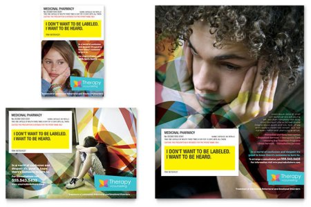 Adolescent Counseling Flyer   Ad Template Design