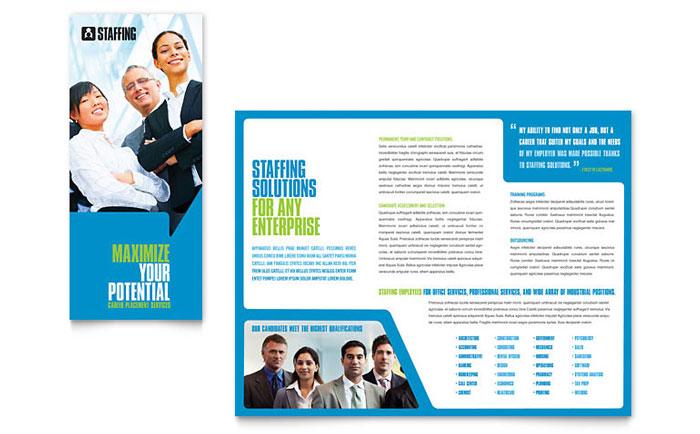 Staffing Amp Recruitment Agency Brochure Template Design