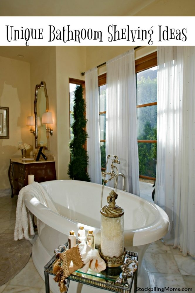 Unique Bathroom Shelving Ideas