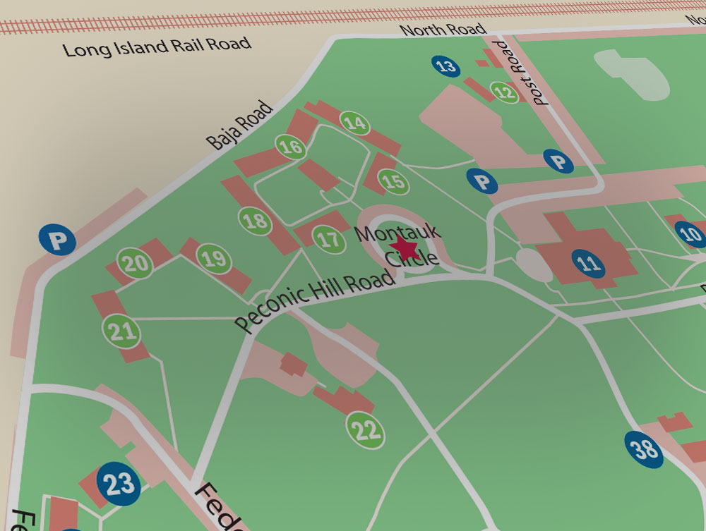Stony Brook University  New York   Maps   Directions Southampton campus parking map