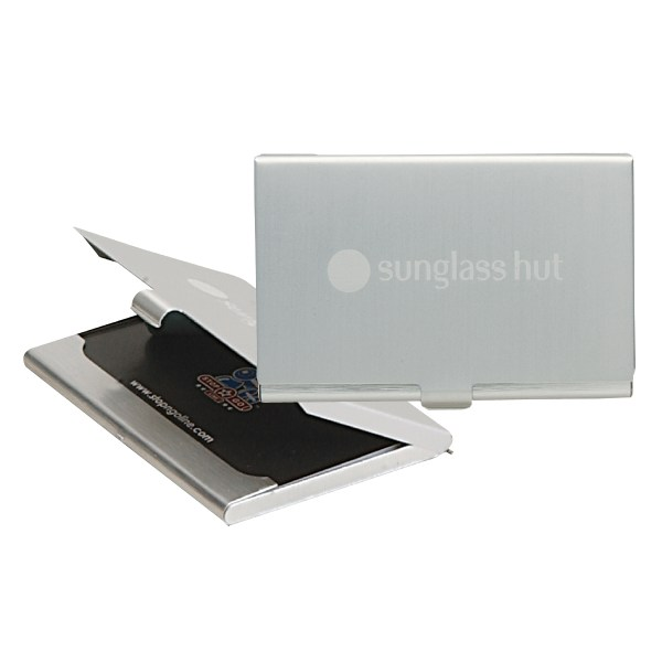 Aluminum business cards maps catalogues check location stopngo line products desk office aluminum business card available colors 2 tone brushed aluminum colourmoves