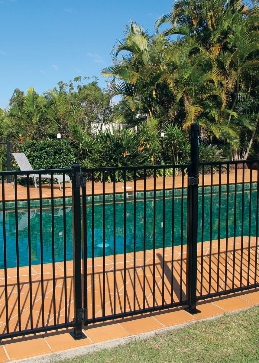Aluminium Pool Fencing Gate Black