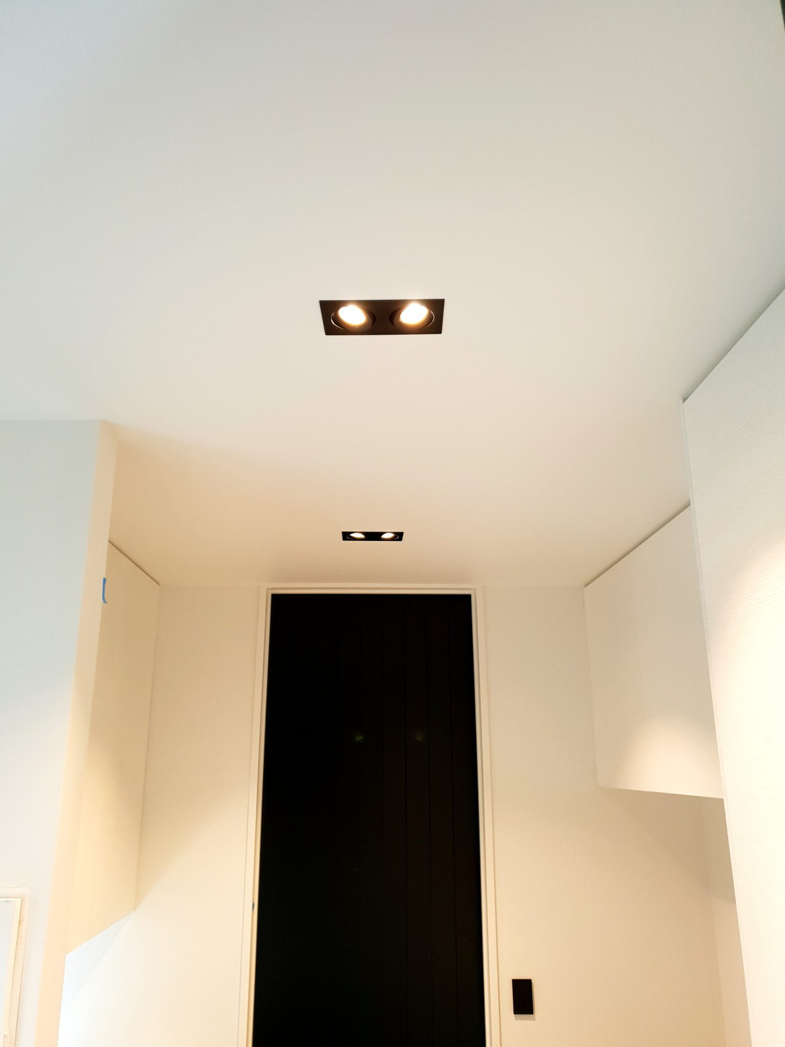 Recessed double downlights
