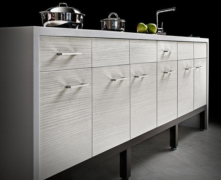 White Textured Kitchen Cabinets Studio Haus