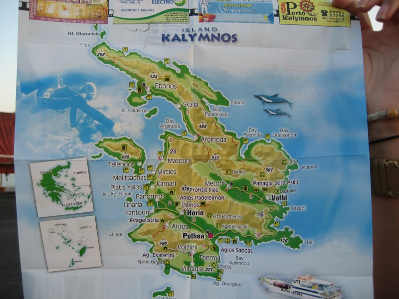 Kalymnos  My Big Fat Greek    Finding Family    Adventure     Study Abroad Map Map of Kalymnos  Greece