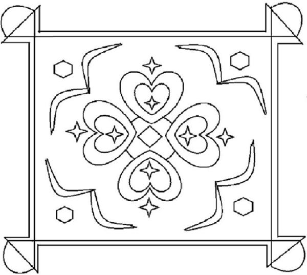 rangoli coloring pages # 73