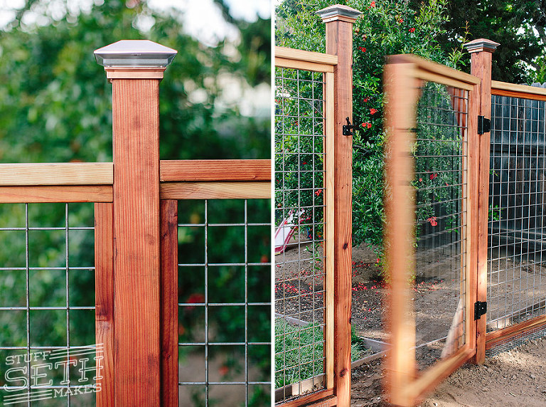 How Build Garden Gate Wire