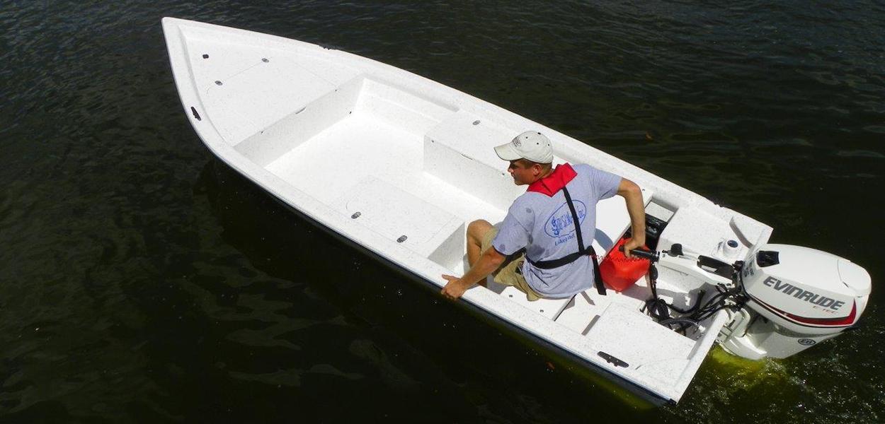 164 Skiff Tiller Stumpnocker By Salty Boats