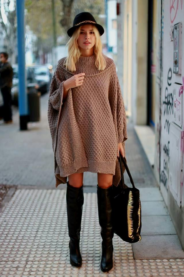 Knit Dresses With Boots
