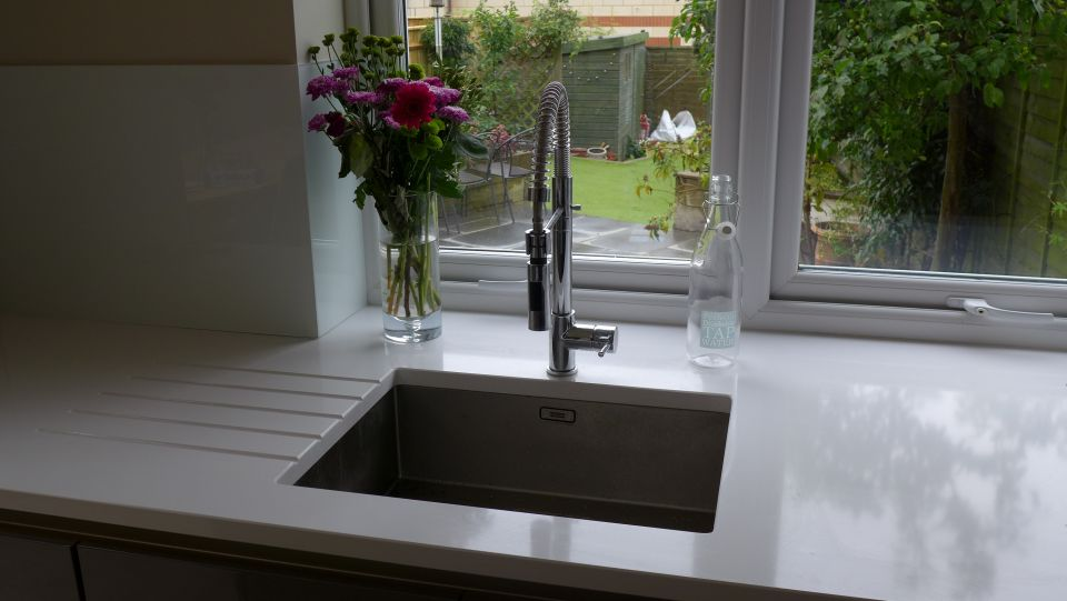 White Kitchen Mixer Taps Uk