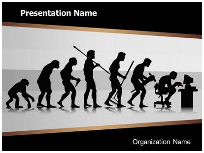 Human Evolution Powerpoint Template Background