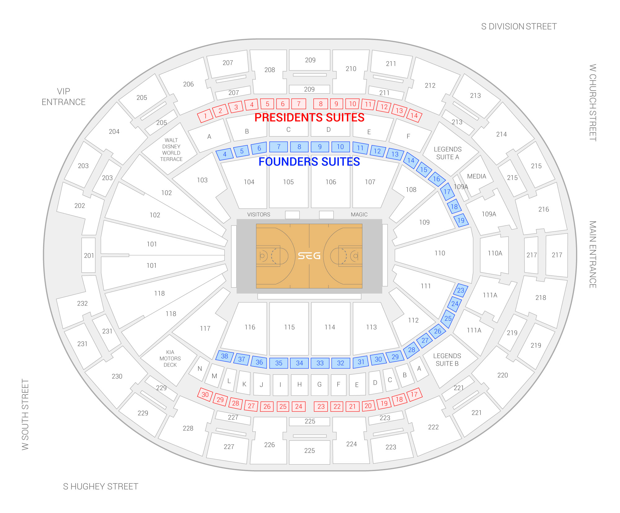 Seating Chart Hearnes Center