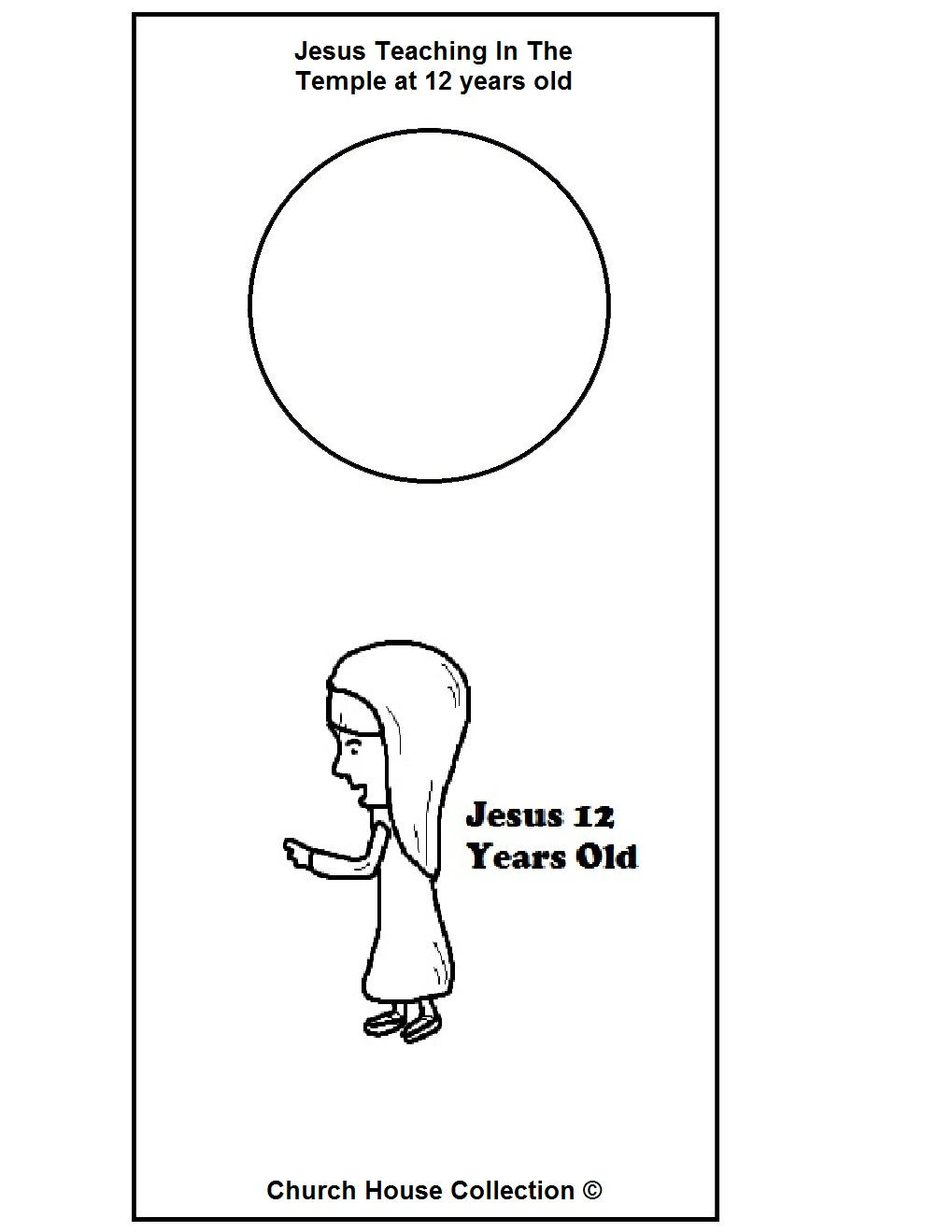 Coloring Page Boy Jesus In The Temple Young Jesus In The Temple