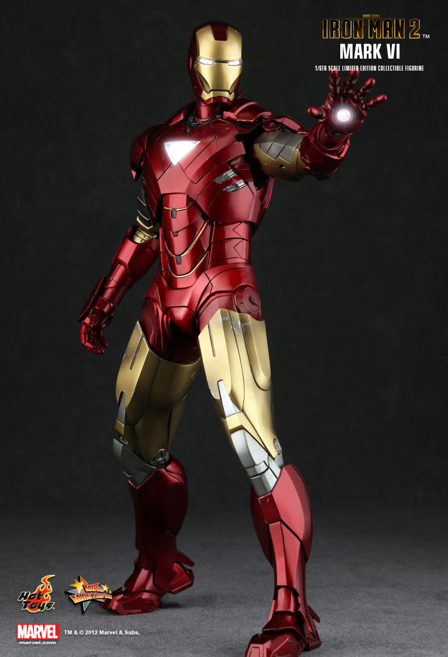1/6 Hot Toys MMS132 Marvel Iron Man 2 MK6 Mark VI 12 ...