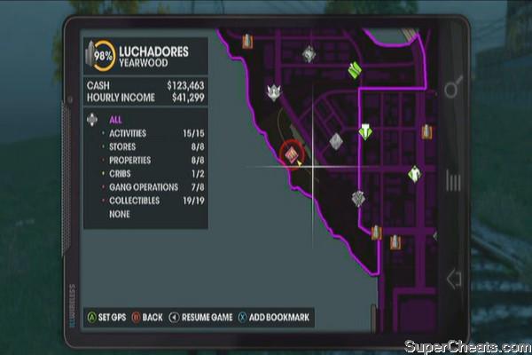 Saints Row Third Gang Operations Map