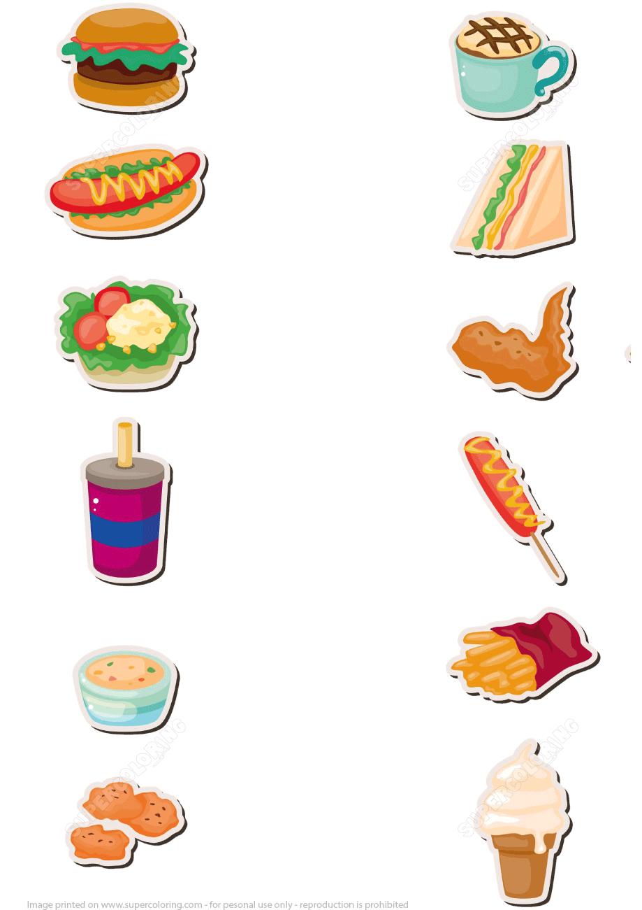 Papercraft Template Fast Food
