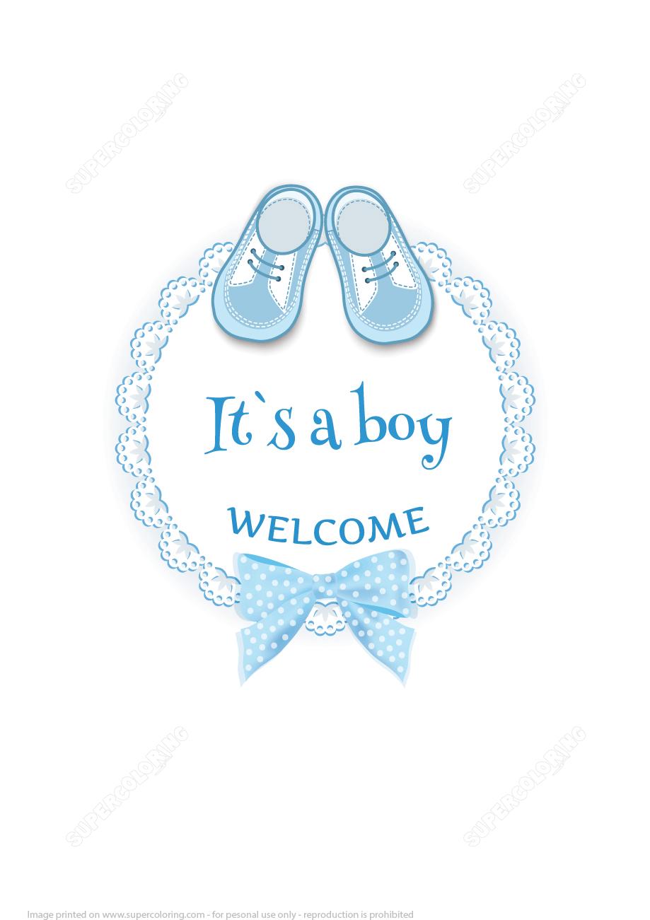 Baby Girl Greeting Card Printables