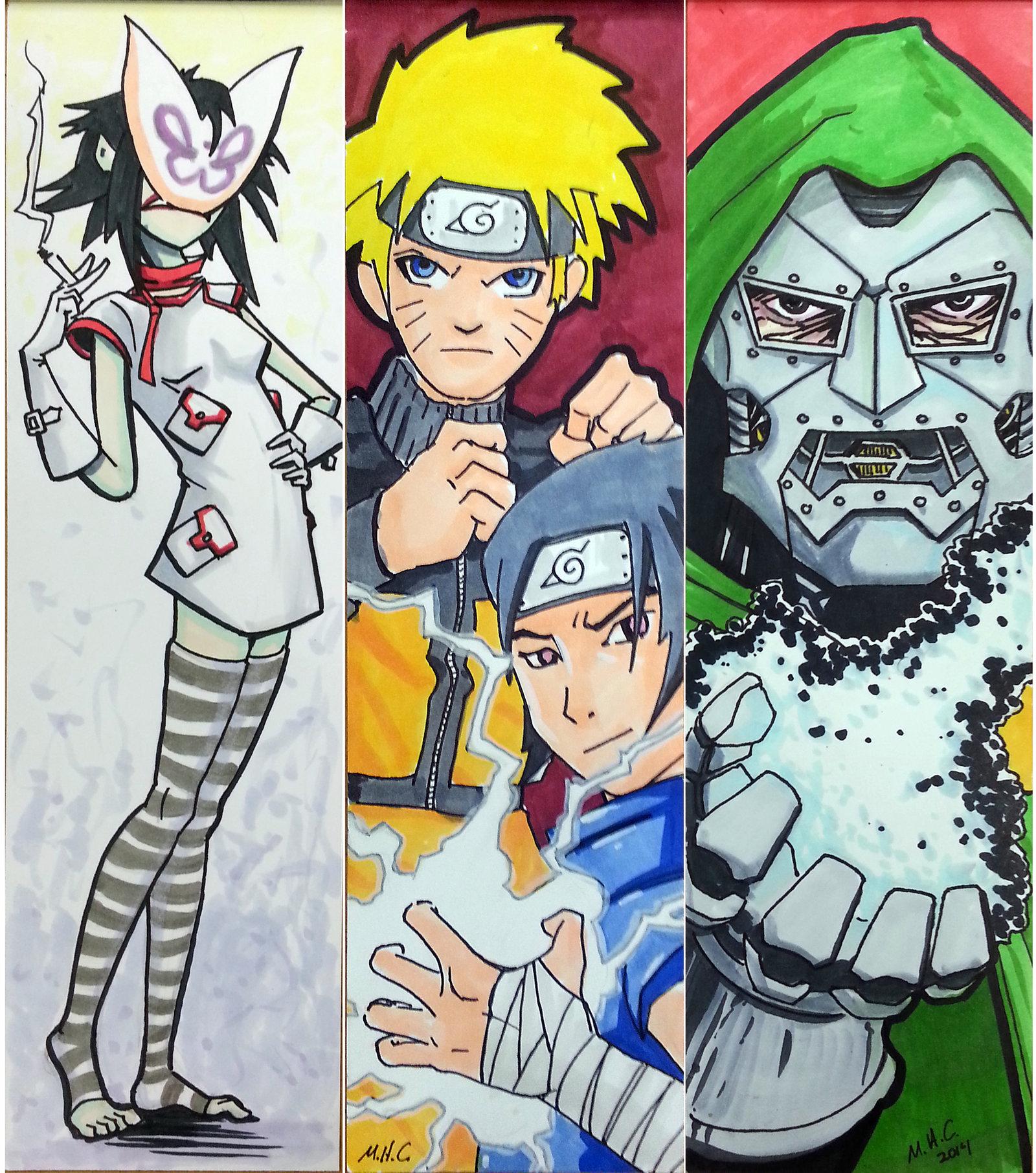 Japanese Anime And Comics Bookmarks Free Printable Papercraft Templates