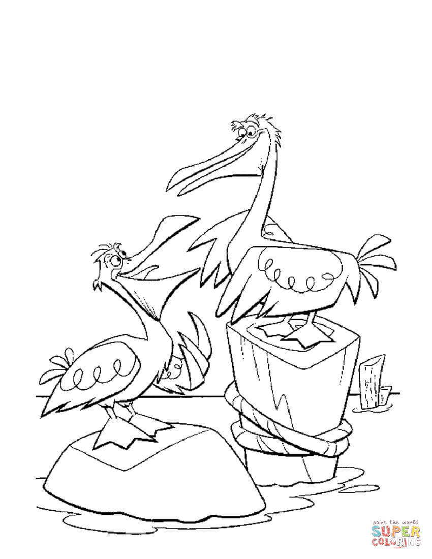 Pelicans Coloring Page Free Printable Coloring Pages