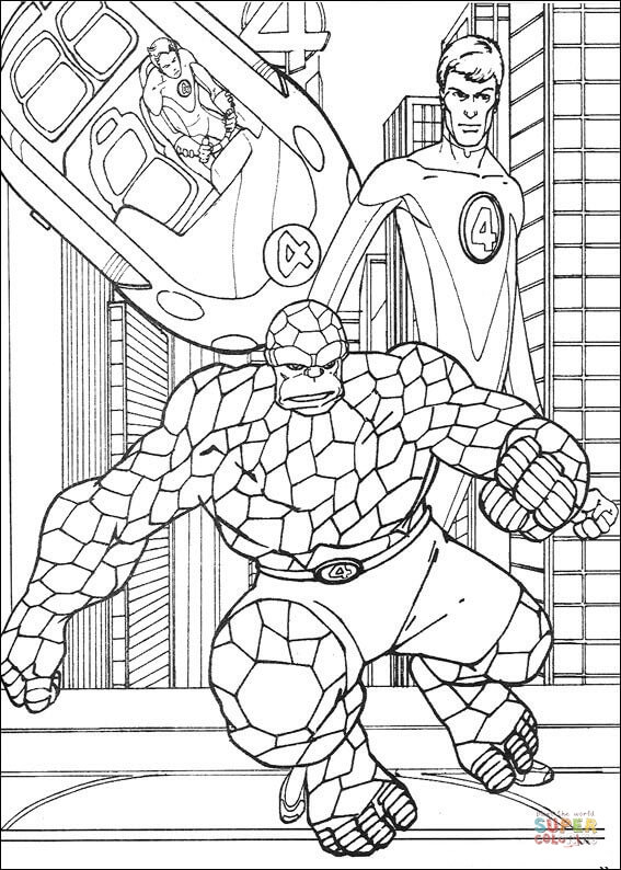 fantastic four coloring pages # 68