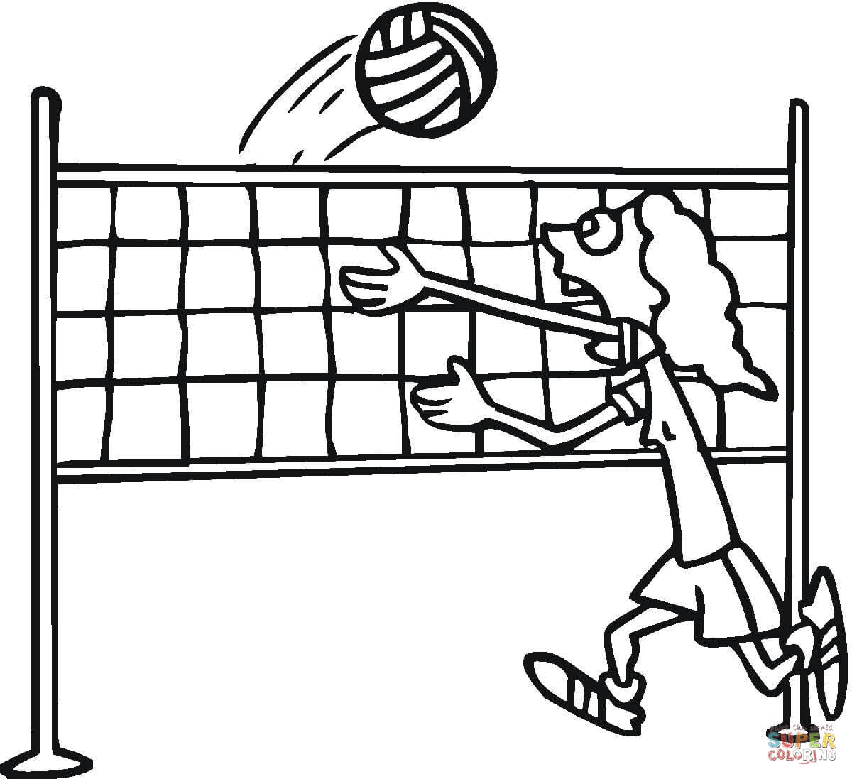 Volleyball Coloring Page Free Printable Coloring Pages