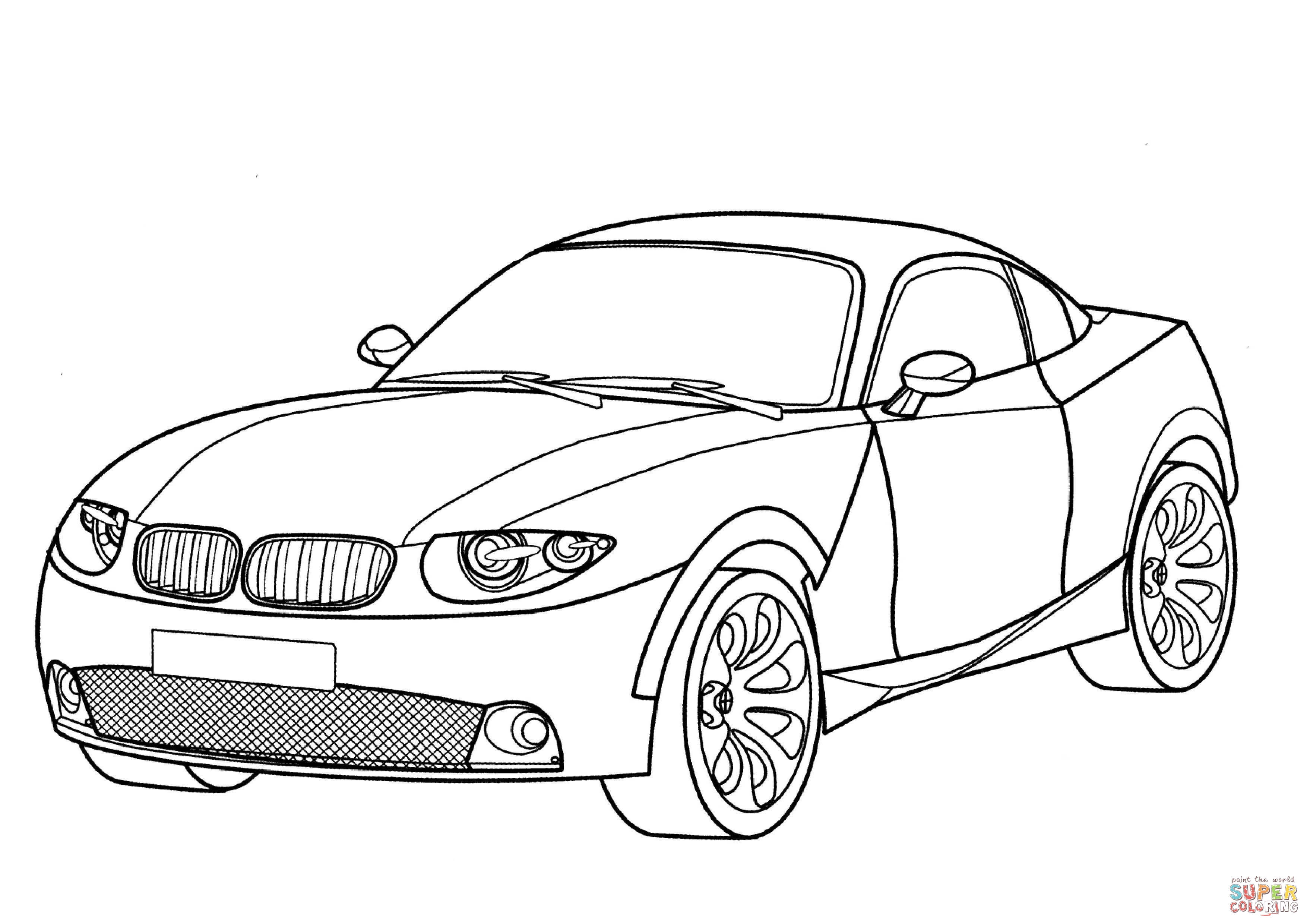 Bmw X Coupe Coloring Page Free Printable Coloring Pages