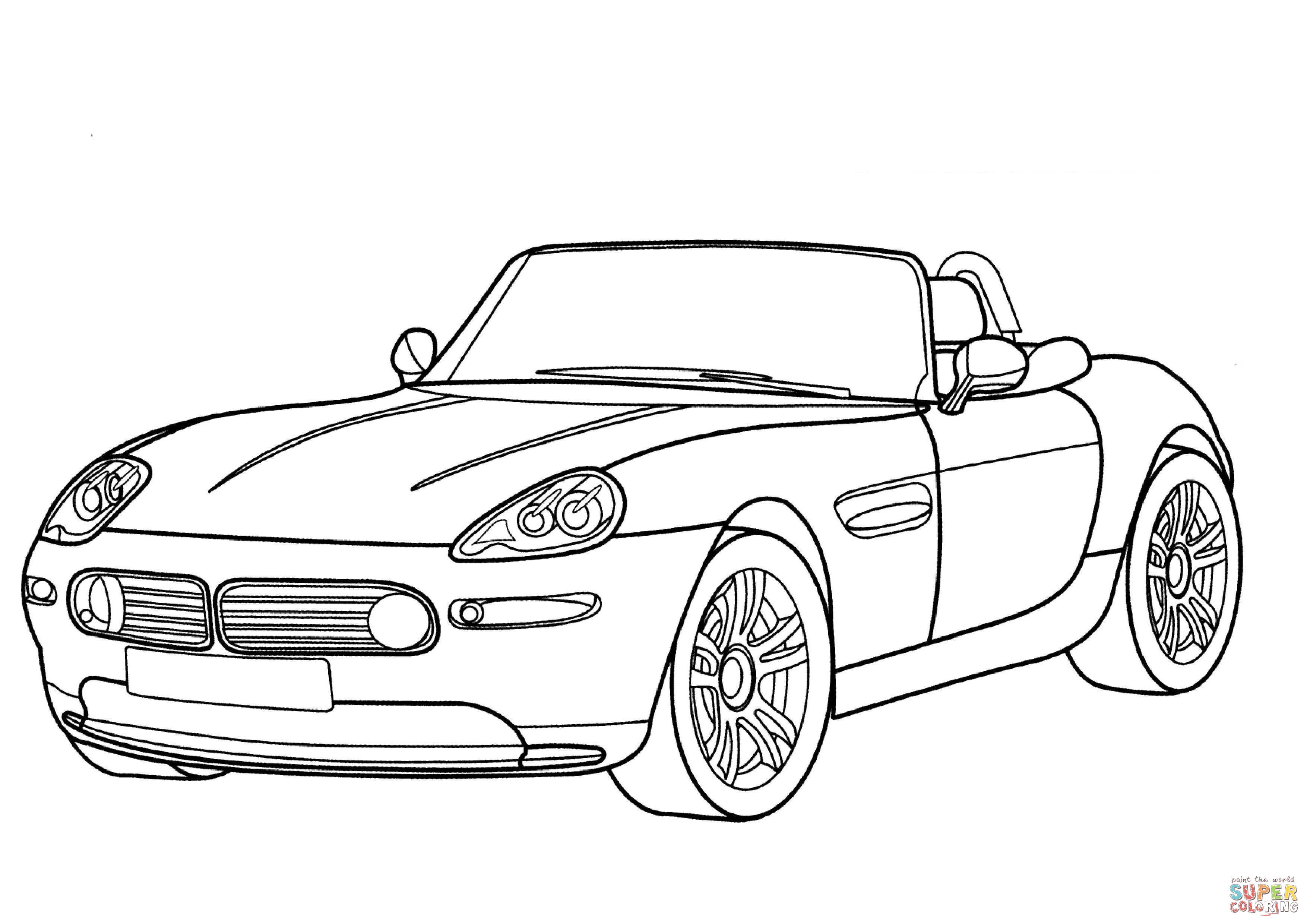 Bmw Z8 Cabriolet Coloring Page Free Printable Coloring Pages