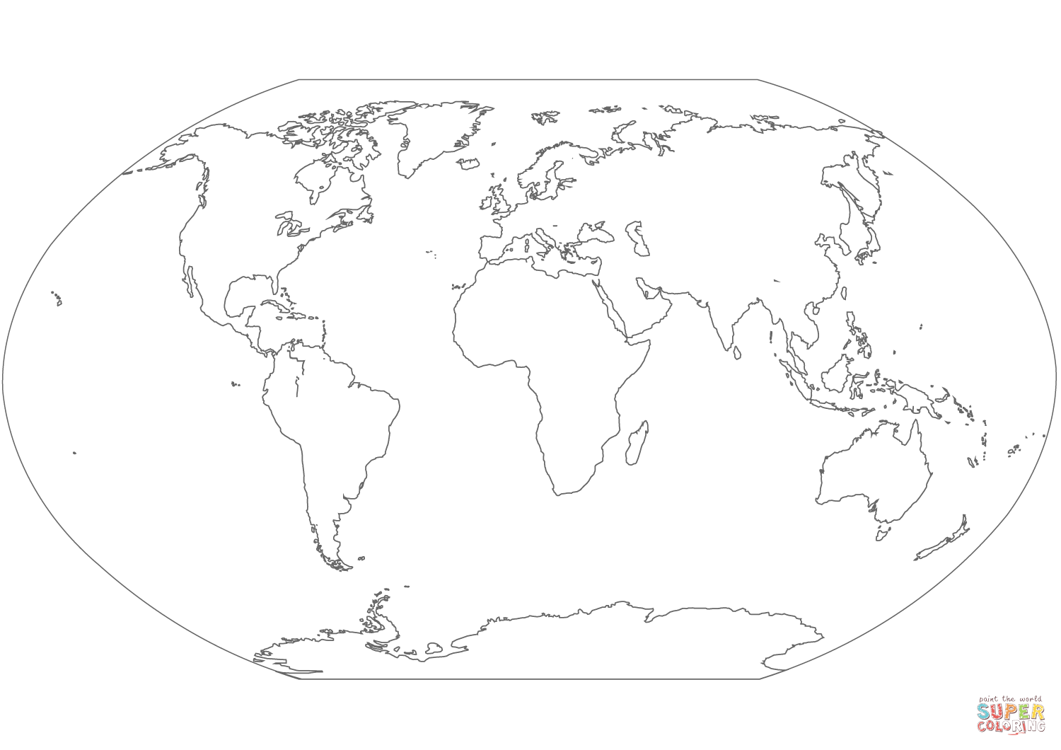 World Map Coloring Page Free Printable Coloring Pages