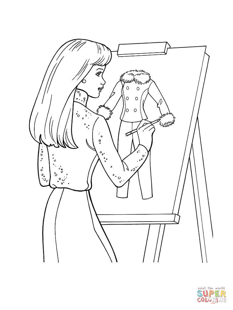 Design Of Clothes Coloring Page Free Printable Coloring Pages