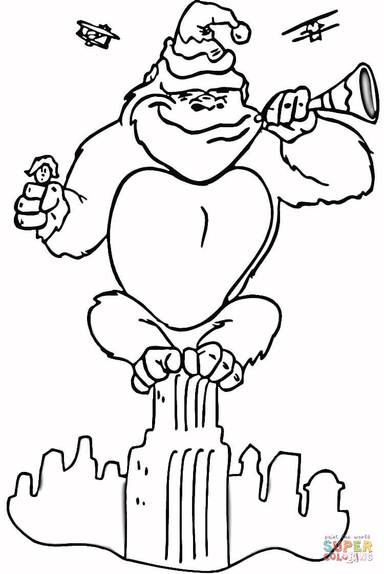 King Kong Coloring Page Free Printable Coloring Pages