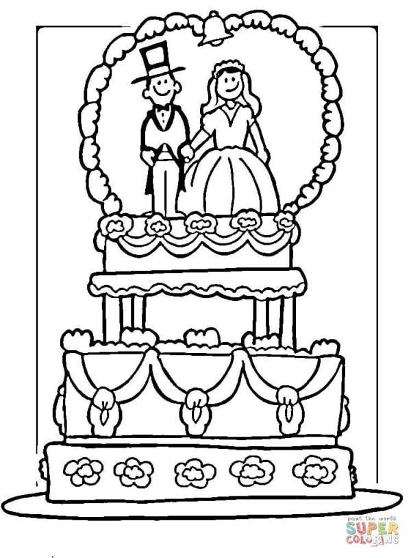 wedding coloring page # 18