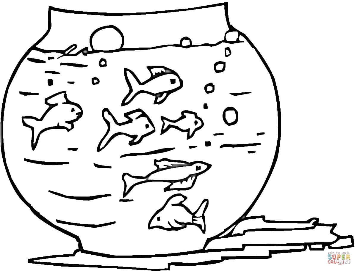 Fish Tank Coloring Page Free Printable Coloring Pages