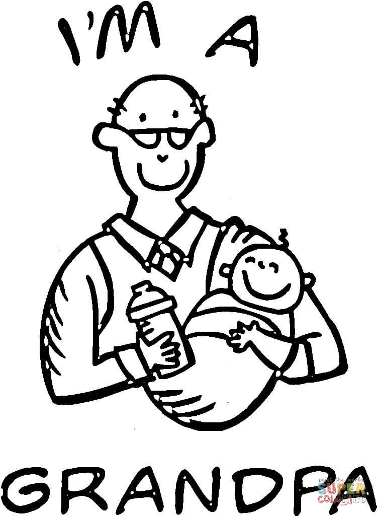 I M A Grandpa Coloring Page Free Printable Coloring Pages