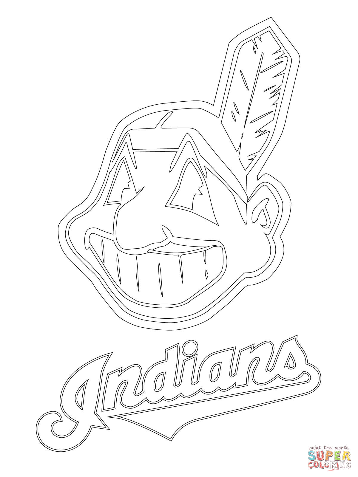 free coloring pages download clevelend indians logo coloring page free printable coloring pages of cleveland